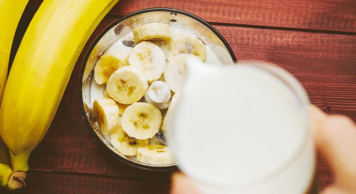 青汁とバナナ豆乳